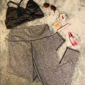 aerie lined heathered grey leggings